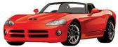 červené sportovní auto