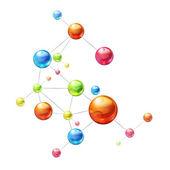 Molekuly na bílém pozadí