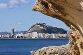 Pohled město Alicante s santa Bárbara