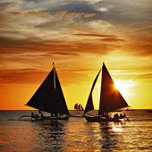 Sailing on sunset