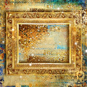 Stylish vintage background with golden frame