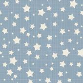 Seamless stars pattern Vector linen texture