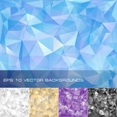 Set of geometric patterns Triangles polygonal backgrounds Eps10 vector illustration