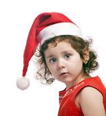 Holčička v novoroční červené víčko