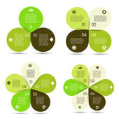 Vector circle eco infographics set
