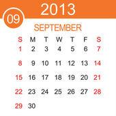 Září 2013 kalendář vektor