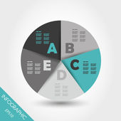 Turquoise infographic ring with five options