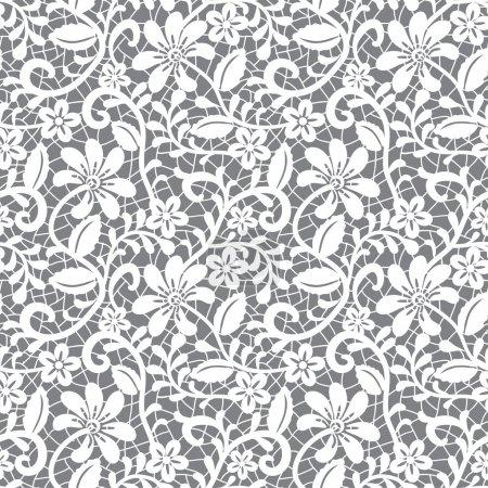 White seamless lace