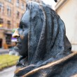Постер, плакат: Detail of statue depicting the actress Margaretha Krook 1925 2001 by Marie Louise Ekman outside the Royal theater Dramaten