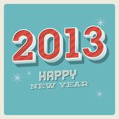 Carta tipografica vintage retrò felice nuovo anno 2013