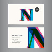 Business card vector template alphabet letter text color editable Font type typography retro vintage modern Ideal for independent worker company shop restaurant