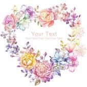 Akvarell virágos illusztráció
