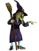 Witch with broom