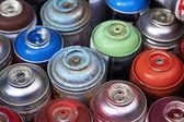 Diversi spray bombolette aerosol fro graffiti e arte