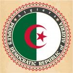 Постер, плакат: Vintage label cards of Algeria flag