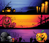 Halloween elements for banners websites posters