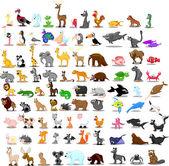 Super set of 91 cute cartoon animals