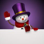 Sněhulák nápis