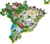 Map of Brazil with all capitals Cities of Brazil