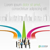 Group of business choosing the right path Multiple options