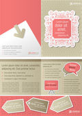 Pink vintage template for advertising brochure