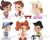 Kreslené děti