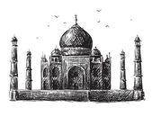 Taj Mahal Zeichnung
