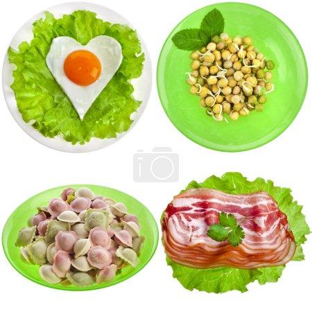Постер, плакат: Tasty nutritious meals on a plate, холст на подрамнике