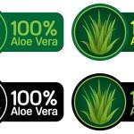Постер, плакат: 100% Aloe Vera Seals Stickers
