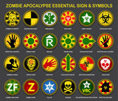 A complete an useful collection of all necessary signs and symbols for the Zombie Apocalypse
