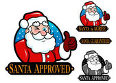 Santa Approved is Agree Guaranteed Seal Icon Mark