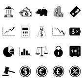 Financovat ikony. vektorové ilustrace