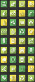 Vector set of flat icons concerning to ecology energy alternative energy and sustainable development themes