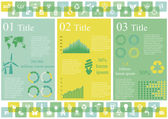 Vector set of infographic elements including 49 icons world map 5 types of diagram concerning to ecology and sustainable development themes