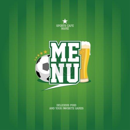 Sports Bar Menu card template.