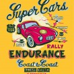 Постер, плакат: Coast to coast rally