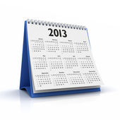 Desktop 3D calendario 2013 a sfondo bianco