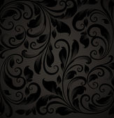 Seamless floral background with flowers pattern for wallpaper design, black
