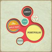 Vintage Web design template. Eps 10 vector Illustration. Old paper texture, retro style.