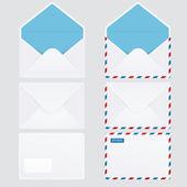 Satz von 6 glänzende Briefumschläge