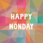 Felice lettere lunedì su sfondo colorato