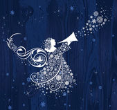 Christmas Angels All elements and textures are individual objects Vector illustration scale to any size