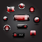 Vector gift buttons