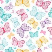 Virágos pillangók vector háttér zökkenőmentes minta