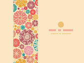 Vector abstract decorative circles horizontal seamless pattern background with many hand drawn ornamental oval shapes
