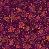Valentin napi szívek Seamless Pattern háttér