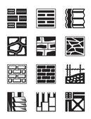 Various construction materials - vector illustration