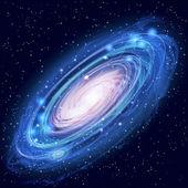 Schöne leuchtende Vektor-Andromeda-Galaxie