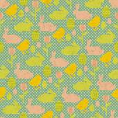Seamless retro polka dot easter background eps10 vector illustration