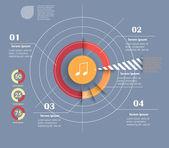 Šablona návrhu konceptuálního vektor. infografika prvek